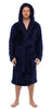 Navy Fleece Hooded Bathrobe