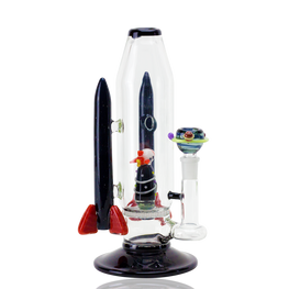 Rocket Ship Themed Dual Use Water Pipe with Dropdown