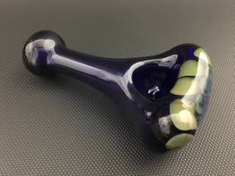 Glass Cobalt Spoon - Honeycomb