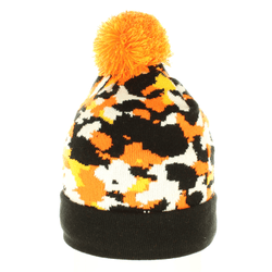 Orange Camo Beanie - Beanies USA