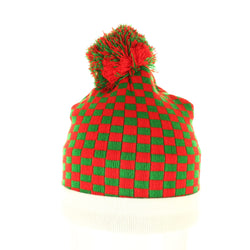 Checker Board Christmas Beanie - Beanies USA