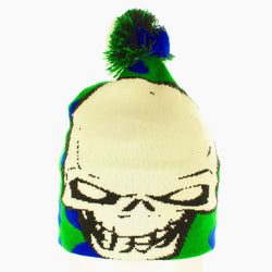 Green Skull Hat - Beanies USA