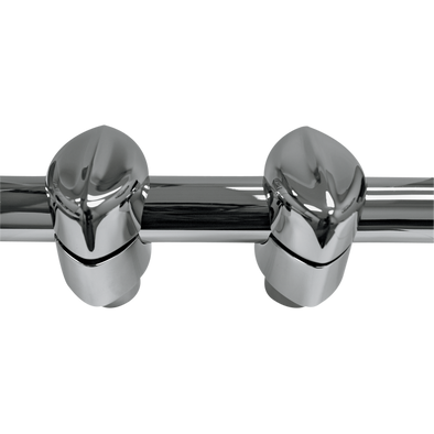 "MOHAWK RISER CAPS FOR 1 1/4"" HANDLEBARS CHROME"
