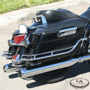 "TRU-POWER 4"" SLIP ON MUFFLERS WITH CHROME STEALTH TIPS FOR HD"