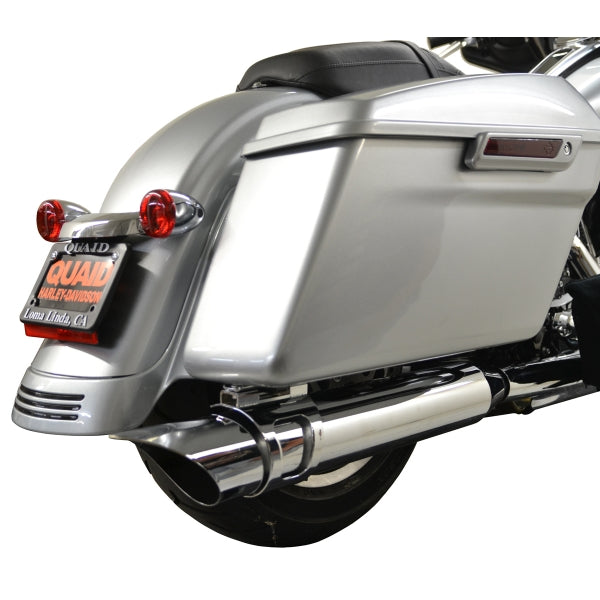 ROTATABLE SLASH EXHAUST CHROME PIPE WITH CHROME MOUNT