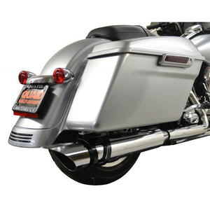 ROTATABLE SLASH EXHAUST CHROME PIPE WITH BLACK MOUNT