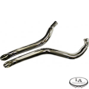 CUSTOM EXHAUST WITH SLASH CUT TIPS FOR RIGHT SIDE DRIVE MODELS HD