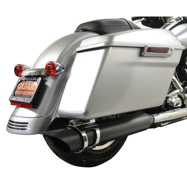 ROTATABLE SLASH EXHAUST BLACK PIPE WITH CHROME MOUNT