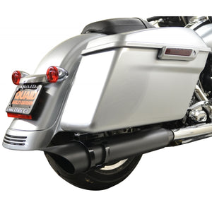 ROTATABLE SLASH EXHAUST BLACK PIPE WITH BLACK MOUNT