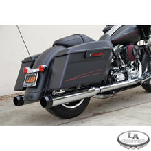 "4"" HI-PERFORMANCE SLIP ON MUFFLERS WITH BLACK STEALTH TIPS FOR HD"