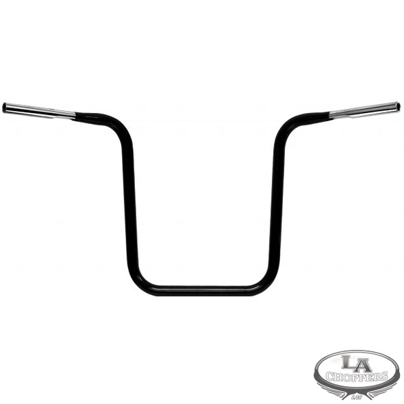 "1 1/4"" DIAMETER HEFTY APE HANGER BAR 18"" BLACK FOR HD"