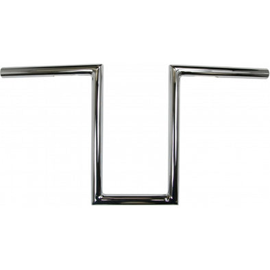 "1"" NARROW Z-BARS 12"" RISE CHROME UNIVERSAL"