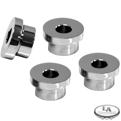 5 DEGREE-TRIPLE TREE RISER ANGLE ADAPTERS CHROME HD