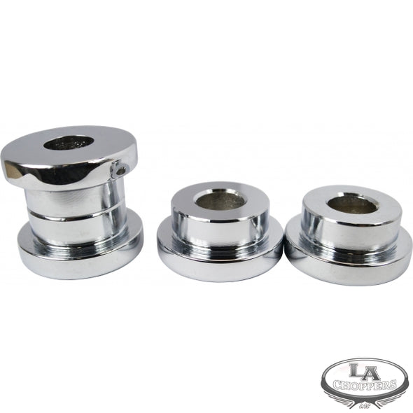 SOLID RISER BUSHINGS CHROME HD
