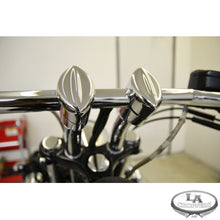 "MOHAWK RISERS FOR 1"" HANDLEBARS 5.5"" CURVED RISE CHROME UNIVERSAL"