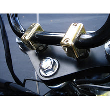"1.5"" SHORTY POLISHED BRASS RISERS FOR 1"" HANDLEBARS UNIVERSAL"
