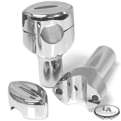 "MOHAWK HEFTY RISERS FOR 1 1/4"" HANDLEBARS 3"" RISE CHROME UNIVERSAL"