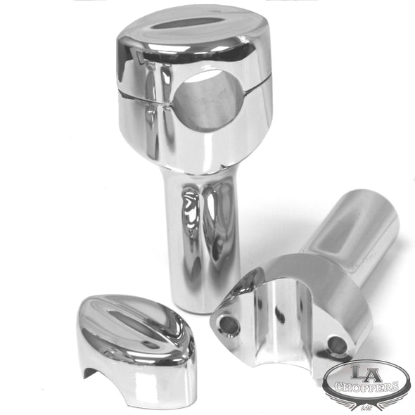 "MOHAWK HEFTY RISERS FOR 1 1/4"" HANDLEBARS 4"" RISE CHROME UNIVERSAL"