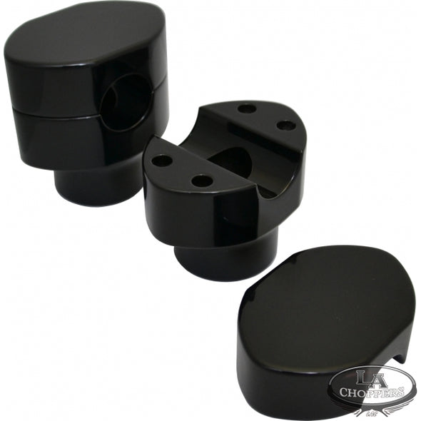 "1"" HARLEY SPRINGER RISERS GLOSS BLACK HD"