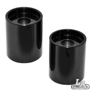 "2"" TALL RISER EXTENSIONS FOR 1.5"" BARS BLACK UNIVERSAL"
