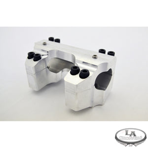 "RISER CLAMP SET FOR 1.25"" HANDLEBARS RAW FINISH HD"
