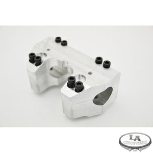 "RAW FINISHED CLAMP SET FOR 1 1/2"" HANDLEBARS HD"