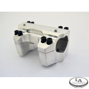 "RISER CLAMP SET FOR 1.5"" HANDLEBARS RAW FINISH HD"