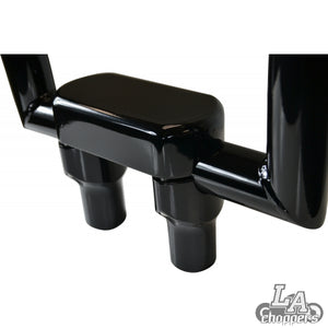 "THREE PIECE RISER KIT 1.25"" MOUNT 3"" RISE BLACK HD"