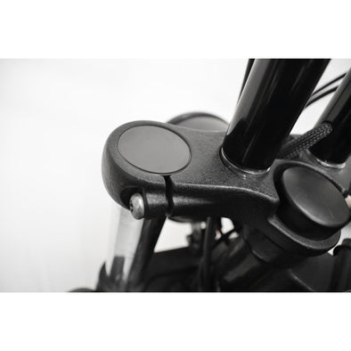 49MM FLUSH MOUNT FORK CAPS - BLACK