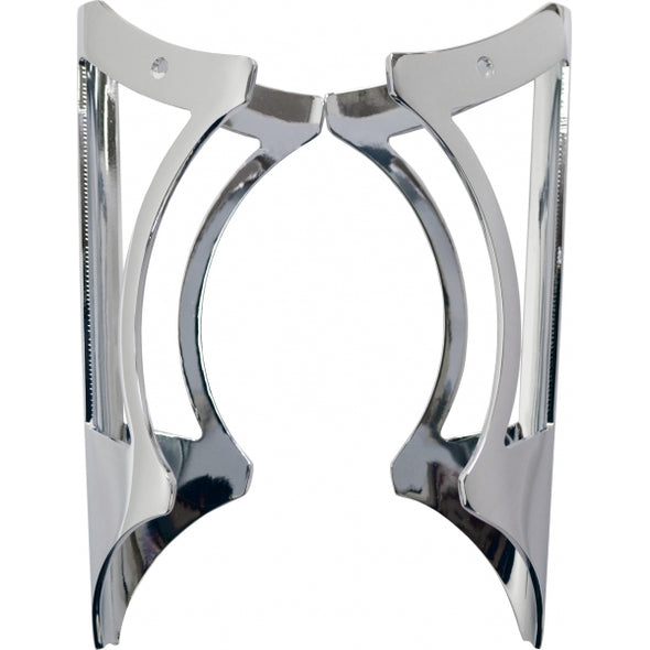 "LARGE CLAMP ON GUSSET WINDOW FOR 1.25"" BARS - CHROME"