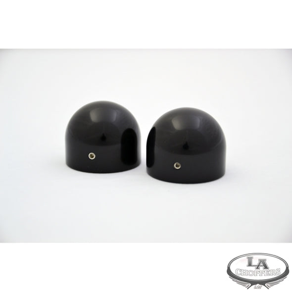 AXLE CAPS-DOME BLACK FOR HD