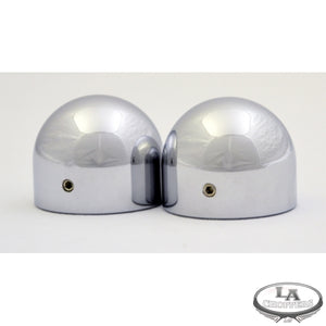 AXLE CAPS-DOME CHROME FOR HD