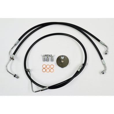 "BRAKE LINE 12""-14"" APE KIT BLACK"