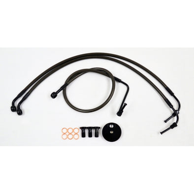 "BRAKE LINE 18""-20"" APE KIT MIDNIGHT SERIES  BLACK"
