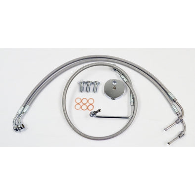 "BRAKE LINE 18""-20"" APE KIT STAINLESS"