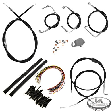 "CABLE AND BRAKE LINE KIT BLACK VINYL FOR 15""-17"" APE HANGERS"