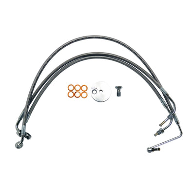 "BRAKE LINE STAINLESS BRAIDED FOR 12""-14"" APE HANGERS"