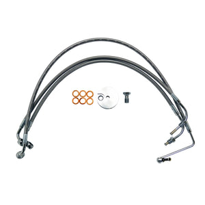 "BRAKE LINE STAINLESS BRAIDED FOR 15""-17"" APE HANGERS"