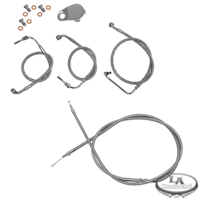 "CABLE AND BRAKE LINE KIT STAINLESS BRAIDED FOR 18""-20"" APE HANGERS"