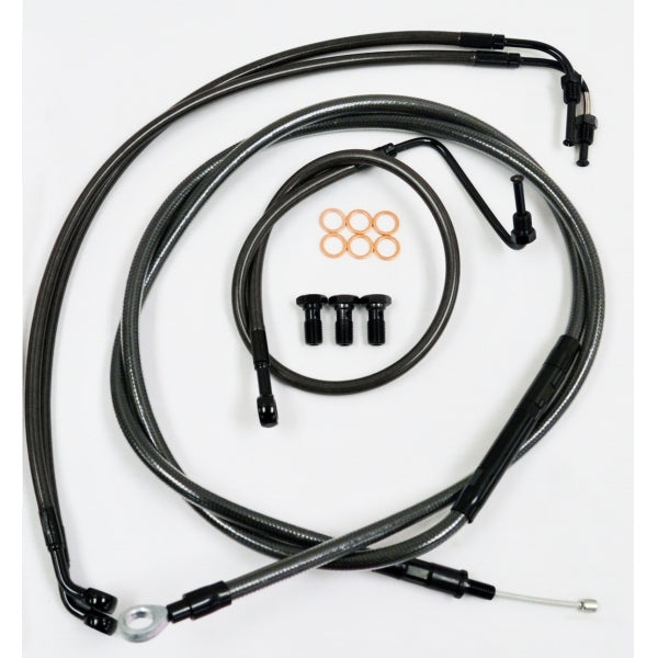 CABLE AND BRAKE LINE KIT MIDNIGHT BLACK FOR 12