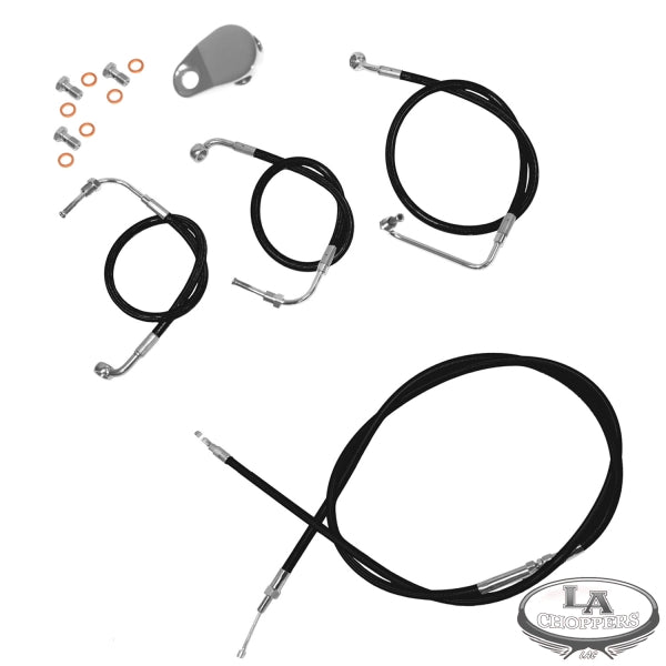 CABLE AND BRAKE LINE KIT BLACK VINYL FOR 15