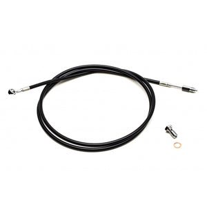"BLACK VINYL CVO CLUTCH CABLE FOR 12""-14"" APES / STOCK LENGTH"