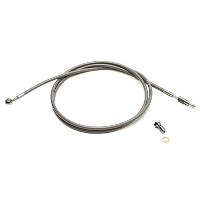"STAINLESS STEEL CVO CLUTCH CABLE FOR 15""-17"" APES / STOCK LENGTH"