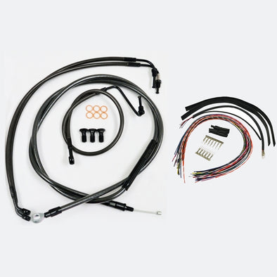 "CABLE AND BRAKE LINE KIT MIDNIGHT BLACK FOR 12""-14"" APE HANGERS"