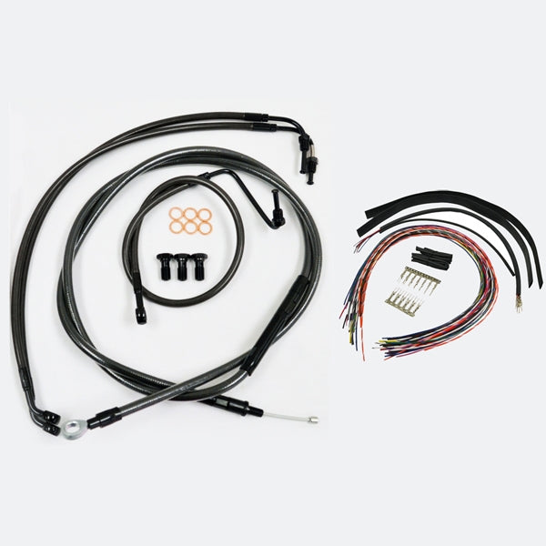 CABLE AND BRAKE LINE KIT MIDNIGHT BLACK FOR 15