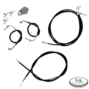 "12-14"" APE CABLE KIT BLACK COATED FOR ABS MODELS HD"