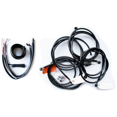 "CABLE AND BRAKE LINE KIT MIDNIGHT BLACK FOR 18""-20"" APE HANGERS"