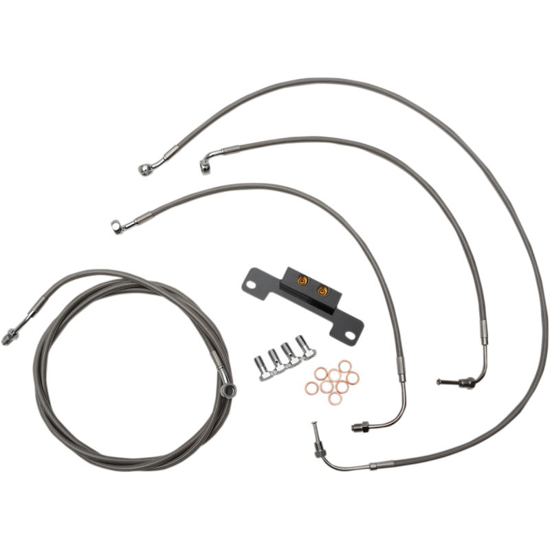 STANDARD BRAIDED STAINLESS HANDLEBAR CABLE/BRAKE LINE KIT FOR 15