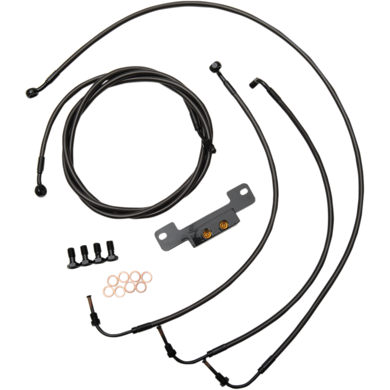 STANDARD MIDNIGHT BRAIDED HANDLEBAR CABLE/BRAKE LINE KIT FOR 18