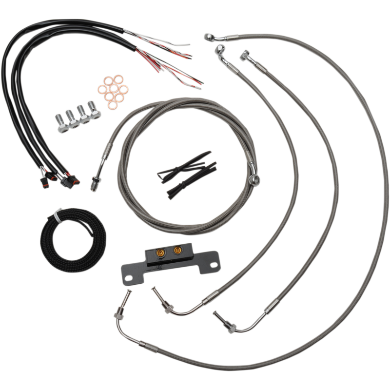 [DIAGRAM_38IS]  COMPLETE BRAIDED STAINLESS HANDLEBAR CABLE/WIRE HARNESS/BRAKE LINE KIT – LA  Choppers   Braided Stainless Wire Harness      LA Choppers